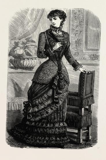 Demi-Evening Toilette, Fashion, 1882--Giclee Print