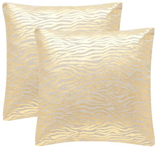 "Demi Pillow Pair - Gold 18""--Home Accessories"