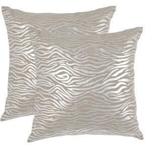 """Demi Pillow Pair - Silver 18"""""""