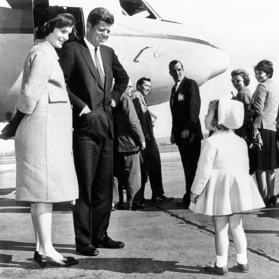 Democratic Presidental Nominee John Kennedy Says Goodbye to His Family--Photo