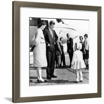 Democratic Presidental Nominee John Kennedy Says Goodbye to His Family