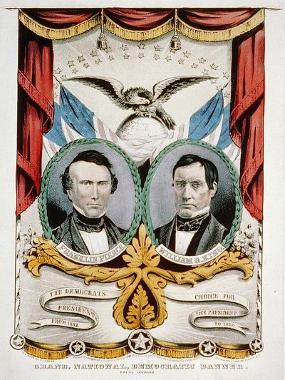 Democratic Presidential Campaign Banner, 1852-American School-Giclee Print