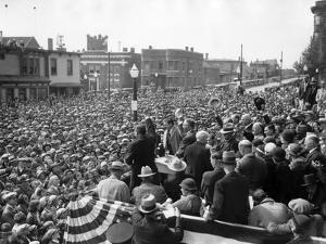 Democratic Presidential Candidate, Franklin Roosevelt, Speaks to Crowd of 10,000, Butte, Montana