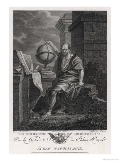 Democritus Greek Philosopher and Scientist- Lorieux-Giclee Print