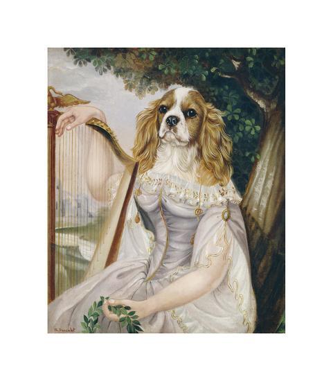 Demoiselle a la Lyre-Thierry Poncelet-Premium Giclee Print
