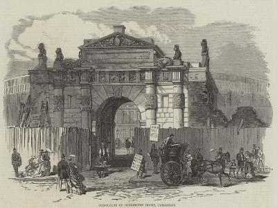 Demolition of Burlington House, Piccadilly--Giclee Print