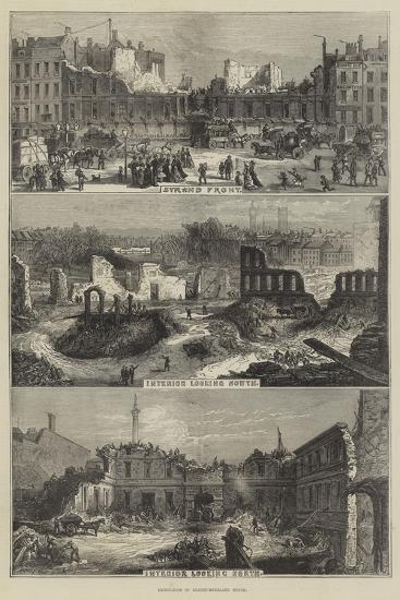 Demolition of Northumberland House--Giclee Print