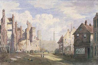 Demolition of Old Houses Near Walbrook to Make Way for King William Street, City of London, 1834-James Fahey-Giclee Print