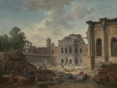 Demolition of the Chateau of Meudon, 1806-Hubert Robert-Giclee Print