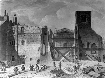 Demolition of the Savoy Palace, Westminster, London, 1820--Giclee Print