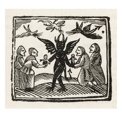 Demon and Witches--Giclee Print