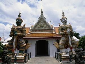 Demon Guardians, Statues in Front of Wat Arun (Temple of Dawn), Bangkok, Thailand, 17th Century