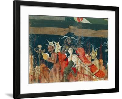 Demons and Damned in Hell, Detail from Coronation of Virgin Altarpiece, 1454-Enguerrand Quarton-Framed Giclee Print