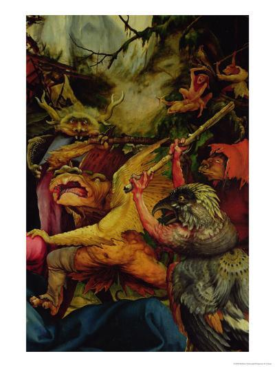 Demons Armed with Sticks from the Isenheim Altarpiece, C,1512-16-Matthias Gr?newald-Giclee Print