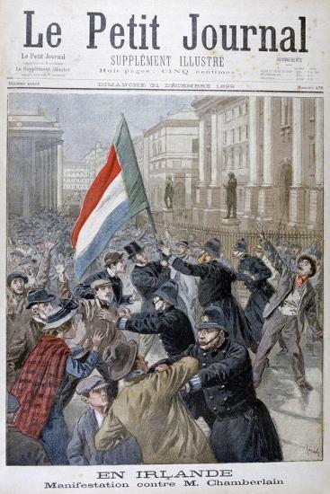 Demonstration Against Joseph Chamberlain, Ireland, 1899-Oswaldo Tofani-Giclee Print