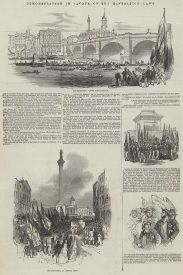 Demonstration in Favour of the Navigation Laws--Giclee Print