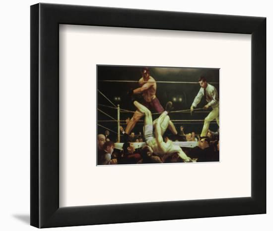 Dempsey and Fipro, 1924-George Wesley Bellows-Framed Art Print