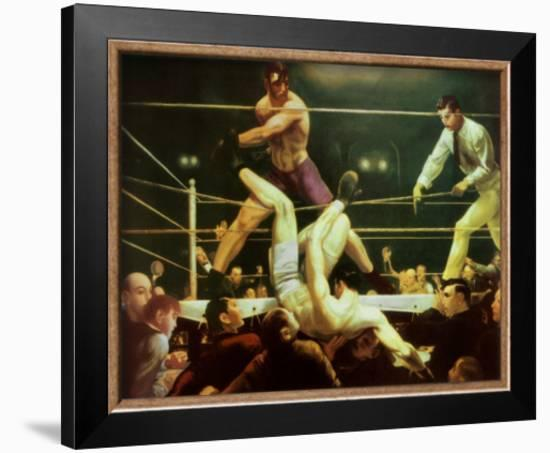 Dempsey and Firpo, 1924-George Wesley Bellows-Framed Art Print