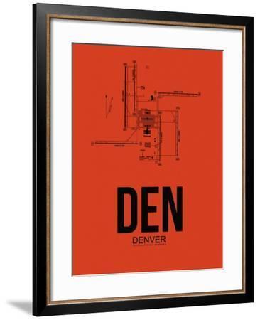 DEN Denver Airport Orange-NaxArt-Framed Art Print
