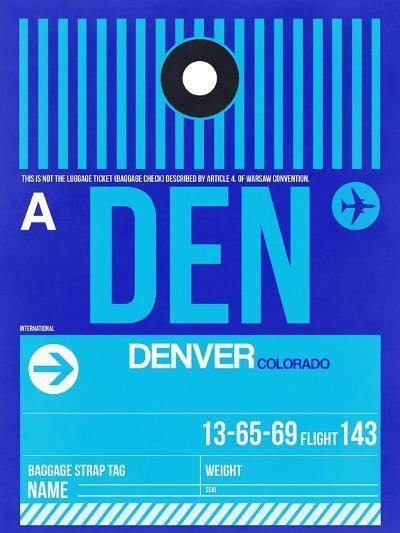 DEN Denver Luggage Tag 2-NaxArt-Art Print