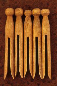 Five Clothes Pegs by Den Reader