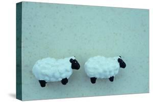 Two Toy Sheep by Den Reader