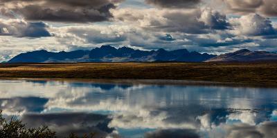 Denali Highway, Route 8, offers views of Mt.Deborah, Mnt. Hess Mountain, & Mt. Hayes Alaska, Alaska--Photographic Print