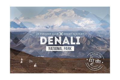 Denali National Park, Alaska - 30% Club-Lantern Press-Art Print