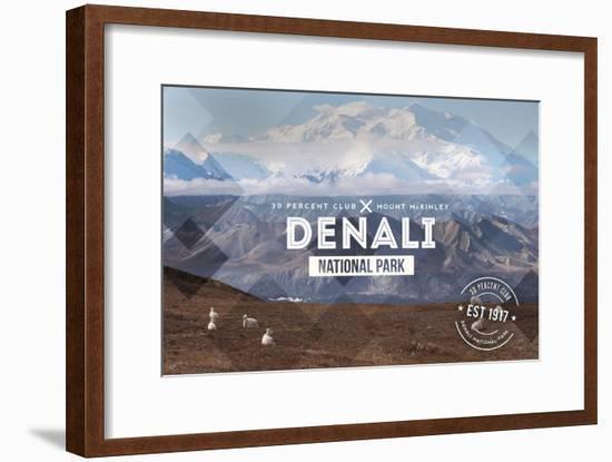 Denali National Park, Alaska - 30% Club-Lantern Press-Framed Art Print