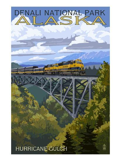 Denali National Park, Alaska - Hurricane Gulch-Lantern Press-Art Print