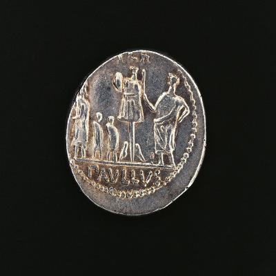 Denarius Issued in 71 BC to Commemorate Aemilius Paullus' Victory at Battle of Pydna in 168 BC--Giclee Print