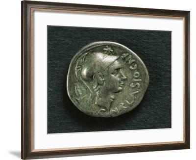 Denarius of Gnaeus Cornelius Blasio, Obverse with Portrait of Scipio Africanus--Framed Giclee Print