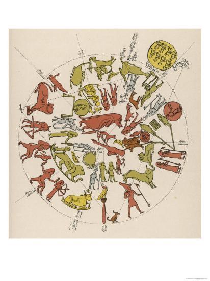 Denderah Zodiac--Giclee Print