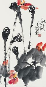 Lotuses in Autumn by Deng Jiafu