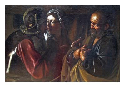 Denial of St. Peter-Caravaggio-Art Print