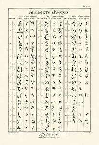 Alphabets Japonois by Denis Diderot