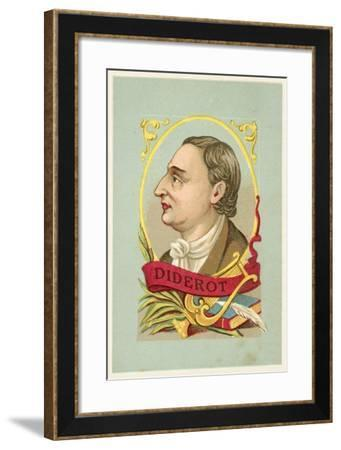Denis Diderot, French Philosopher and Writer--Framed Giclee Print