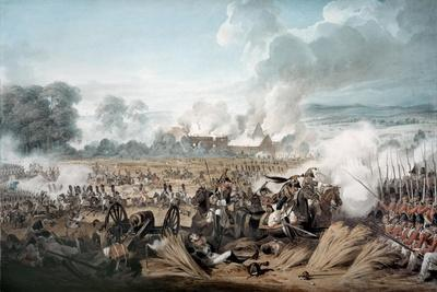 Attack on the British Squares by French Cavalry at the Battle of Waterloo, 1815