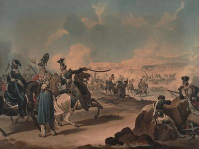 Russian Cavalry Attacking French Infantry at Borodino, 1812