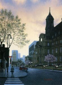 Sunrise in Old Montreal by Denis Nolet