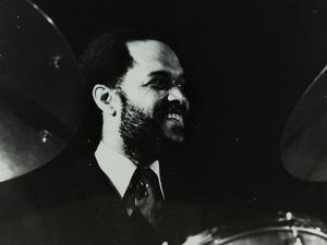 American Drummer Billy Higgins at the Bracknell Jazz Festival, Berkshire, 1983 by Denis Williams