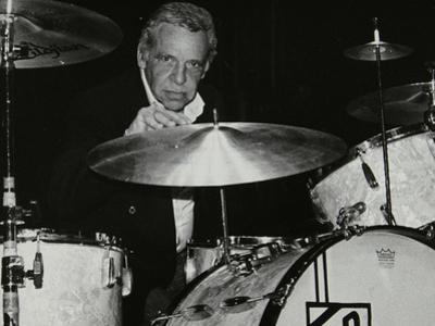 American Drummer Buddy Rich Playing at the Royal Festival Hall, London, June 1985