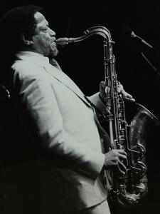 American Saxophonist Illinois Jacquet Playing at the Capital Radio Jazz Festival, Knebworth by Denis Williams