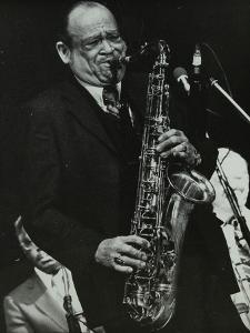 Arnett Cobb Playing Tenor Saxophone, Capital Radio Jazz Festival, Knebworth, Hertfordshire, 1981 by Denis Williams