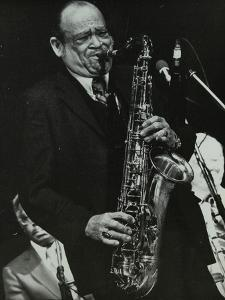 Arnett Cobb Playing Tenor Saxophone, Capital Radio Jazz Festival, Knebworth, Hertfordshire, 1981 by Denis Williams