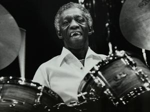 Art Blakey on Stage with the Jazz Messengers at the Forum Theatre, Hatfield, Hertfordshire, 1978 by Denis Williams