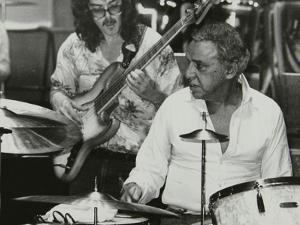 Buddy Rich and Dave Carpenter Playing at the Royal Festival Hall, London, June 1985 by Denis Williams