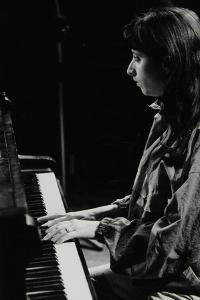 Canadian Pianist Renee Rosnes Playing at the Hertfordshire Jazz Festival, St Albans, 1993 by Denis Williams