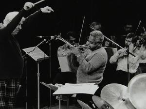 Dizzy Gillespie Playing with the Royal Philharmonic Orchestra, Royal Festival Hall, London, 1985 by Denis Williams