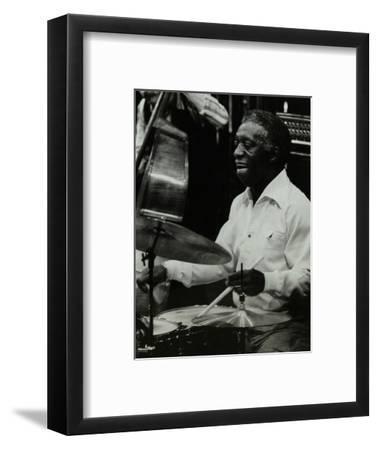 Drummer Art Blakey Playing at the Forum Theatre, Hatfield, Hertfordshire, 1978